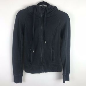 $118 Lululemon Rejuvenate Hoodie Black Full Zip